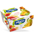 Product packaging of No Bits: Strawberry with Banana & Alpro Peach with Pear